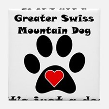 If Its Not A Greater Swiss Mountain Dog Tile Coast