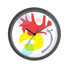 Abstract ala Matisse 1 Wall Clock