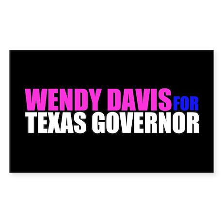 Wendy Davis for Governor Sticker (Rectangle)