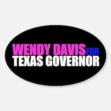 Wendy Davis for Governor Sticker (Oval)
