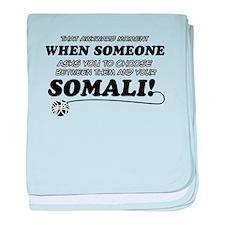 Unique Somali designs baby blanket