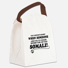 Unique Somali designs Canvas Lunch Bag