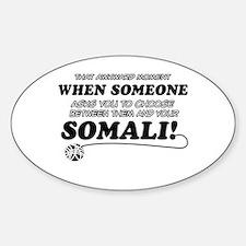 Unique Somali designs Sticker (Oval)