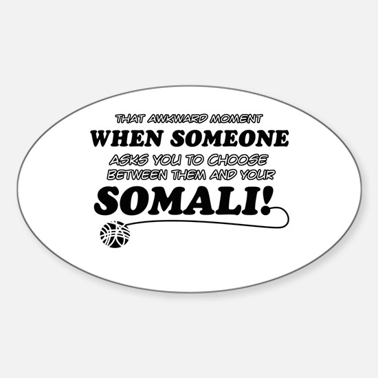 Unique Somali designs Sticker (Oval)