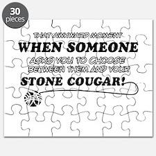 Unique Stone Cougar designs Puzzle