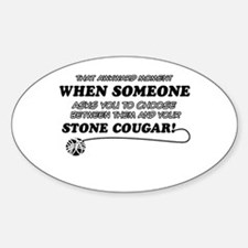 Unique Stone Cougar designs Decal