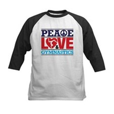 Peace Love and Gymnastics Baseball Jersey
