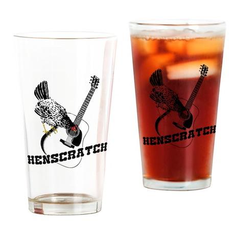 HenScratch Logo Drinking Glass