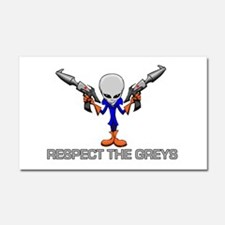 RESPECT THE GREYS Car Magnet 20 x 12