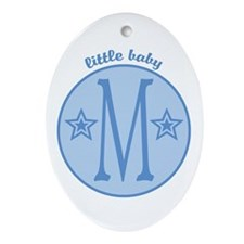 Baby M Oval Ornament
