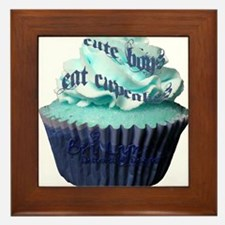 Cute Boys Eate Cupcakes Framed Tile