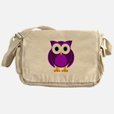 Cute Purple Owl Messenger Bag