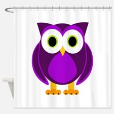 Cute Purple Owl Shower Curtain