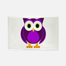 Cute Purple Owl Rectangle Magnet