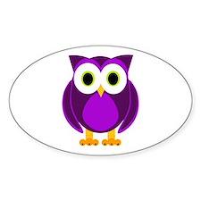 Cute Purple Owl Decal
