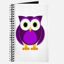 Cute Purple Owl Journal