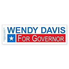 Wendy Davis Governor Democrat Bumper Sticker