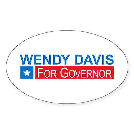 Wendy Davis Governor Democrat Sticker (Oval)