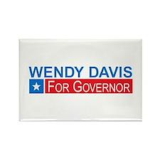 Wendy Davis Governor Democrat Rectangle Magnet