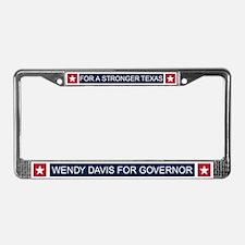 Wendy Davis Governor Texas License Plate Frame
