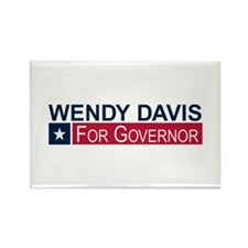 Wendy Davis Governor Texas Rectangle Magnet