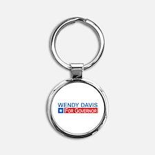 Wendy Davis Governor Democrat Round Keychain