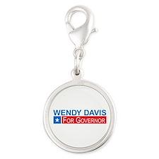 Wendy Davis Governor Democrat Silver Round Charm