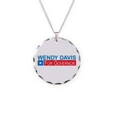 Wendy Davis Governor Democrat Necklace
