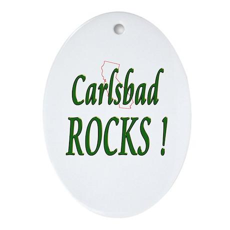 Carlsbad Rocks ! Oval Ornament