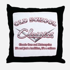 Old School Classics Throw Pillow