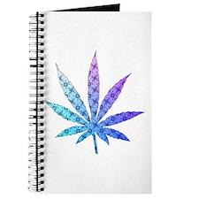 Blue To Violet Marijuana Leaf Art Journal