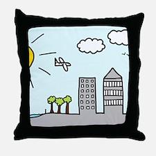 'City Skyline' Throw Pillow