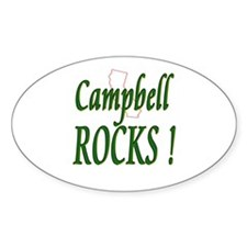 Campbell Rocks ! Oval Decal