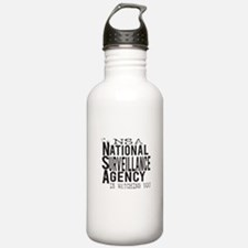 NSA National Surveillance Agency Water Bottle