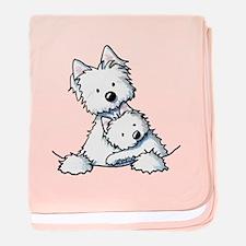 Westie Hug baby blanket