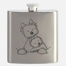 Westie Hug Flask