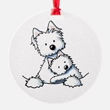 Westie Hug Ornament
