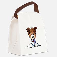 KiniArt Pocket JRT Canvas Lunch Bag