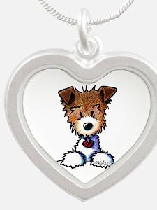 KiniArt Pocket JRT Silver Heart Necklace