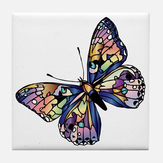 Exotic Butterfly Tile Coaster