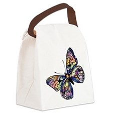 Exotic Butterfly Canvas Lunch Bag