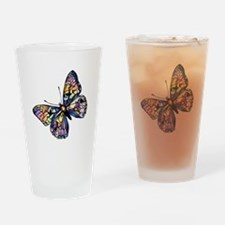 Exotic Butterfly Drinking Glass