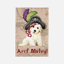 Bichon Pirate Rectangle Magnet