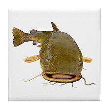 Fat Flathead catfish Tile Coaster