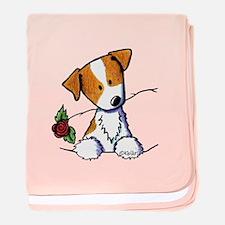 Pocket Rose JRT baby blanket