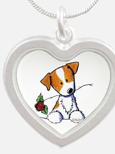 Pocket Rose JRT Silver Heart Necklace
