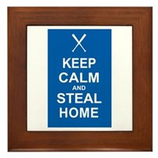 Keep Calm and Steal Home Framed Tile
