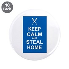 """Keep Calm and Steal Home 3.5"""" Button (10 pack)"""