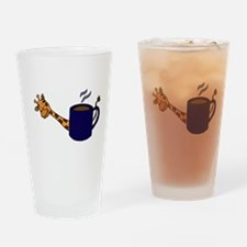 Giraffe Peaking Behind Coffee Mug Drinking Glass