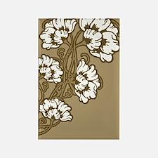 Floral Art Nouveau Motif Rectangle Magnet